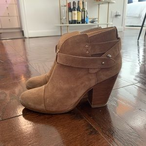 Rag and Bone tan suede boots